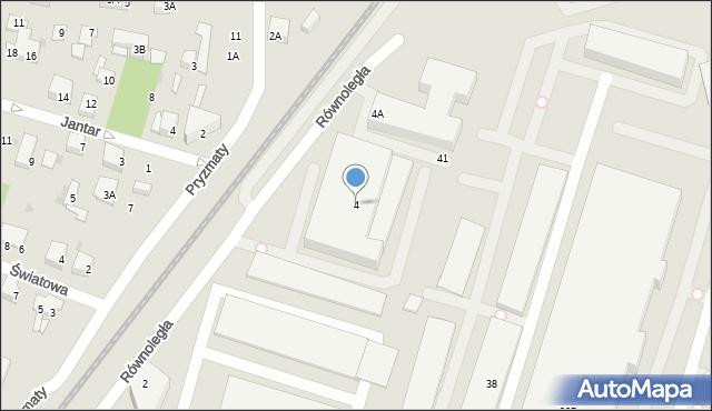 Warszawa, Równoległa, 4, mapa Warszawy
