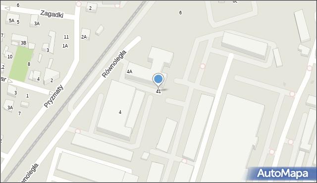 Warszawa, Równoległa, 41, mapa Warszawy