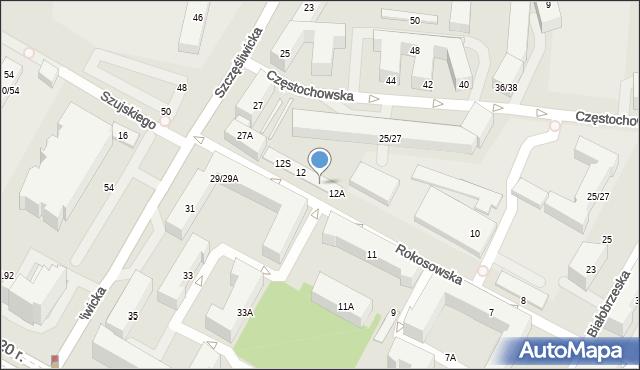 Warszawa, Rokosowska, 12E, mapa Warszawy