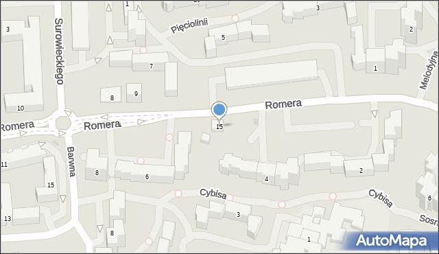 Warszawa, Romera Eugeniusza, prof., 15, mapa Warszawy