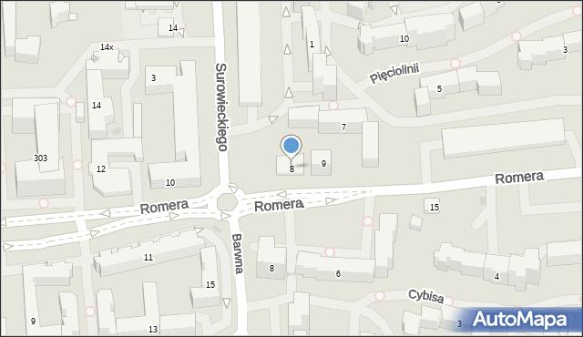 Warszawa, Romera Eugeniusza, prof., 8, mapa Warszawy