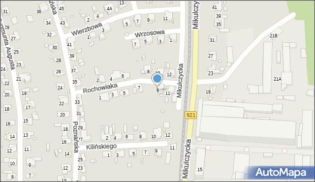 Zabrze, Rochowiaka Stanisława, 9, mapa Zabrza