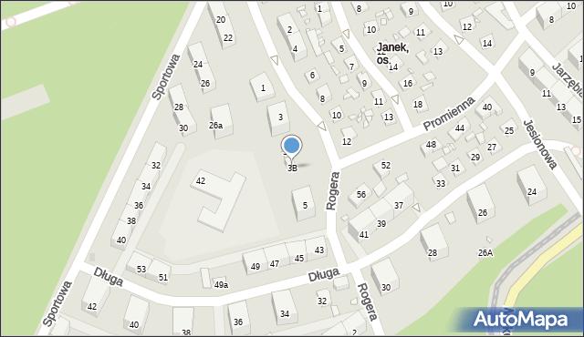 Zabrze, Rogera Juliusza, 3B, mapa Zabrza