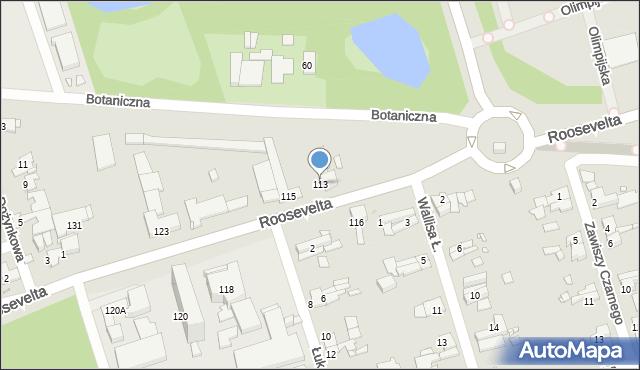 Zabrze, Roosevelta Franklina Delano, 113, mapa Zabrza