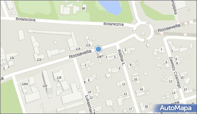 Zabrze, Roosevelta Franklina Delano, 116, mapa Zabrza