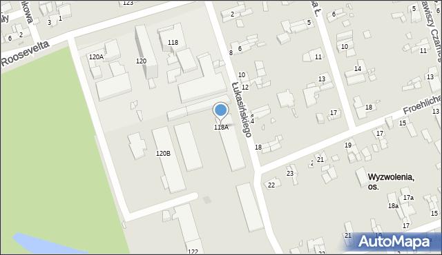 Zabrze, Roosevelta Franklina Delano, 118A, mapa Zabrza