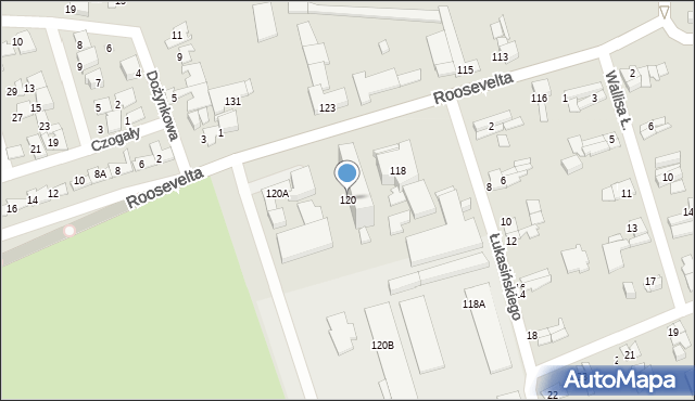 Zabrze, Roosevelta Franklina Delano, 120, mapa Zabrza