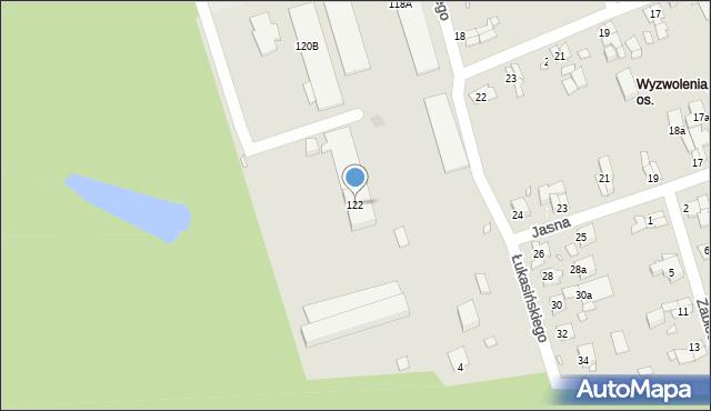Zabrze, Roosevelta Franklina Delano, 122, mapa Zabrza