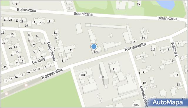 Zabrze, Roosevelta Franklina Delano, 125, mapa Zabrza
