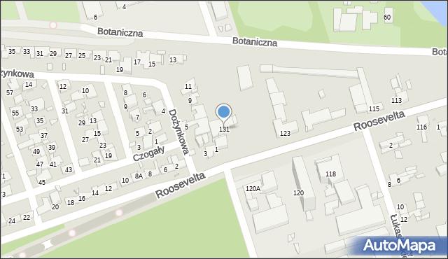 Zabrze, Roosevelta Franklina Delano, 131, mapa Zabrza