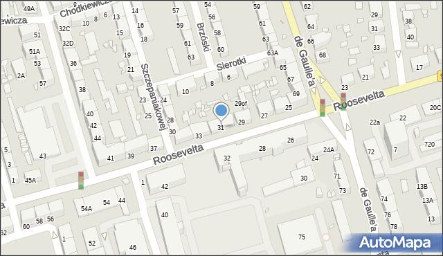 Zabrze, Roosevelta Franklina Delano, 31, mapa Zabrza