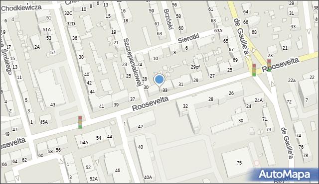 Zabrze, Roosevelta Franklina Delano, 35, mapa Zabrza