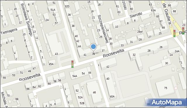 Zabrze, Roosevelta Franklina Delano, 39, mapa Zabrza