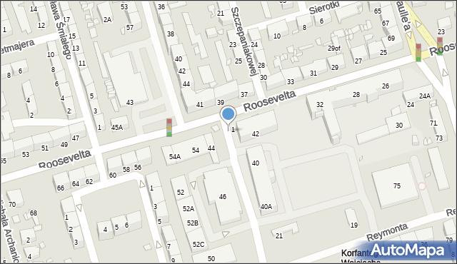 Zabrze, Roosevelta Franklina Delano, 39a, mapa Zabrza
