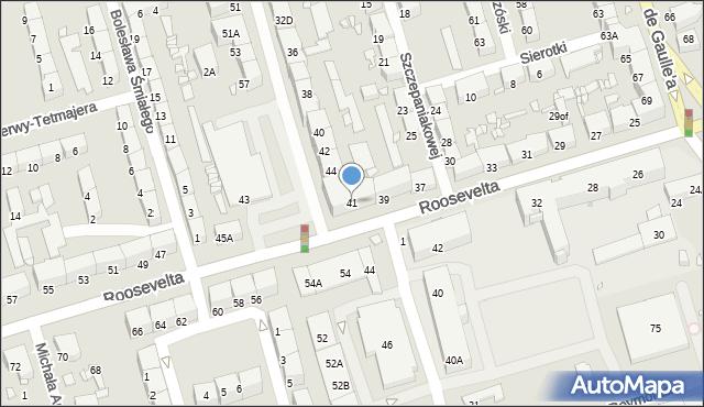 Zabrze, Roosevelta Franklina Delano, 41, mapa Zabrza