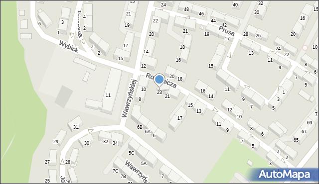 Zabrze, Robotnicza, 23, mapa Zabrza