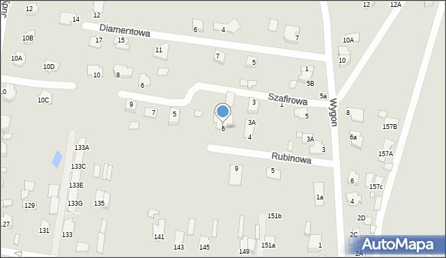Chełm, Rubinowa, 6, mapa Chełma