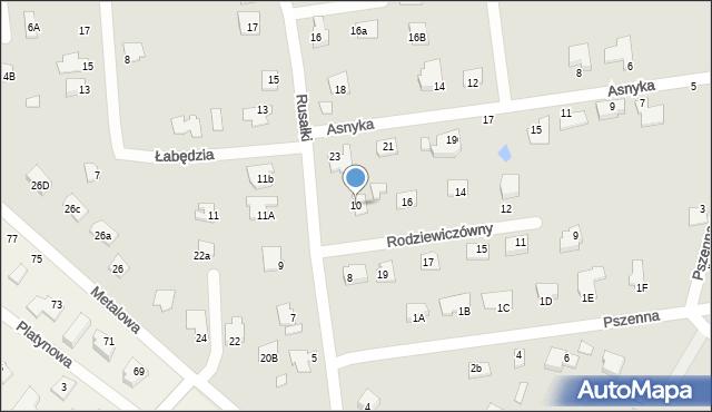 Chełm, Rusałki, 10, mapa Chełma