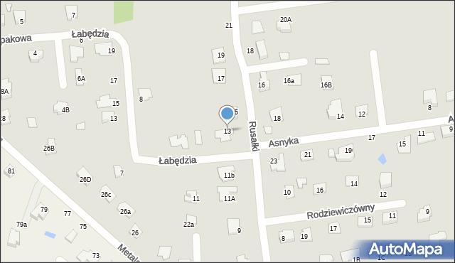 Chełm, Rusałki, 13, mapa Chełma