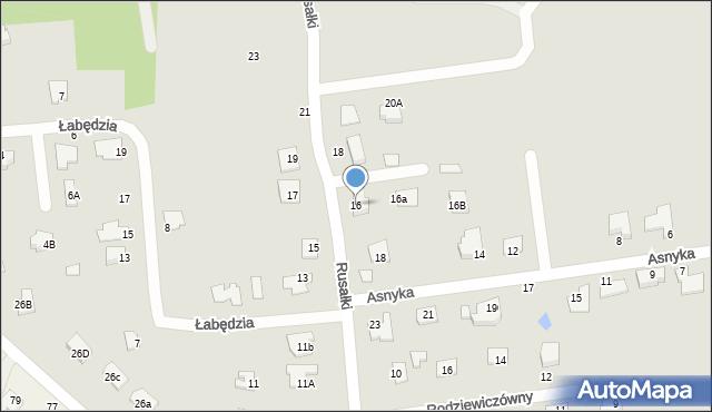 Chełm, Rusałki, 16, mapa Chełma
