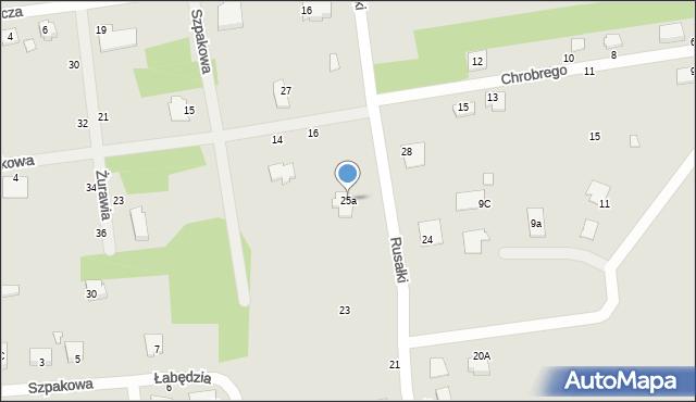 Chełm, Rusałki, 25a, mapa Chełma