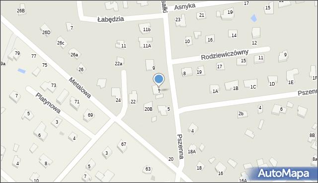 Chełm, Rusałki, 7, mapa Chełma