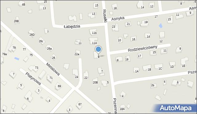Chełm, Rusałki, 9, mapa Chełma