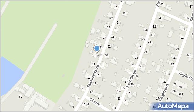 Grudziądz, Ruchniewicza Alojzego, 19, mapa Grudziądza