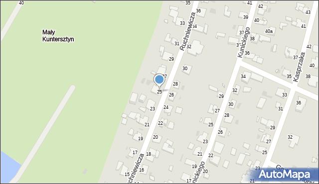 Grudziądz, Ruchniewicza Alojzego, 25, mapa Grudziądza