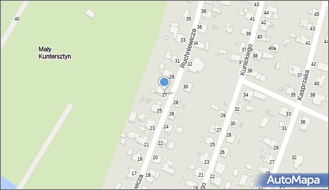 Grudziądz, Ruchniewicza Alojzego, 27, mapa Grudziądza