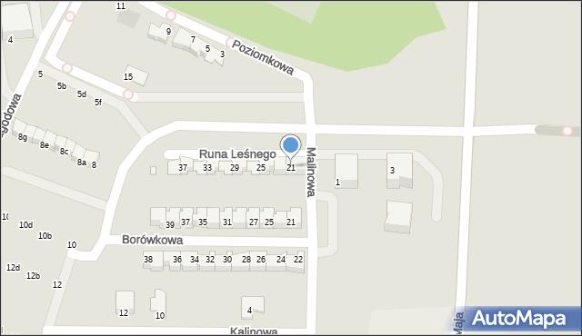 Grudziądz, Runa Leśnego, 21, mapa Grudziądza