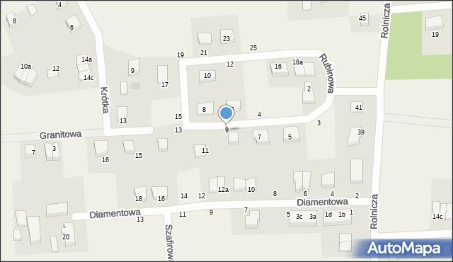 Kębłowo, Rubinowa, 9, mapa Kębłowo