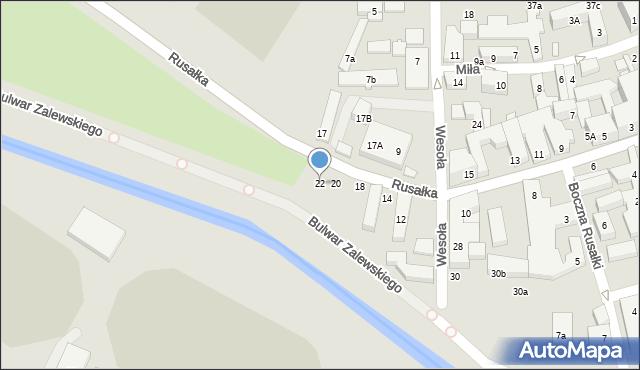 Lublin, Rusałka, 22, mapa Lublina