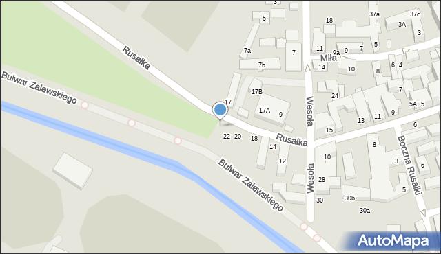 Lublin, Rusałka, 24, mapa Lublina