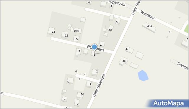 Luzino, Rubinowa, 3, mapa Luzino