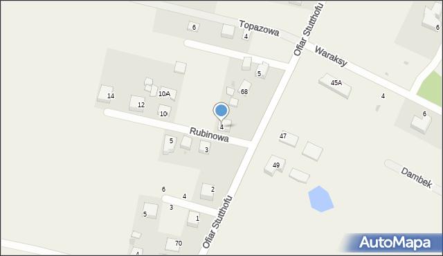 Luzino, Rubinowa, 4, mapa Luzino