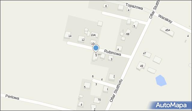 Luzino, Rubinowa, 5, mapa Luzino