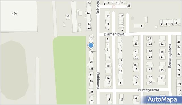 Piaseczno, Rubinowa, 39, mapa Piaseczno