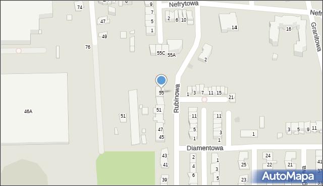 Piaseczno, Rubinowa, 55, mapa Piaseczno