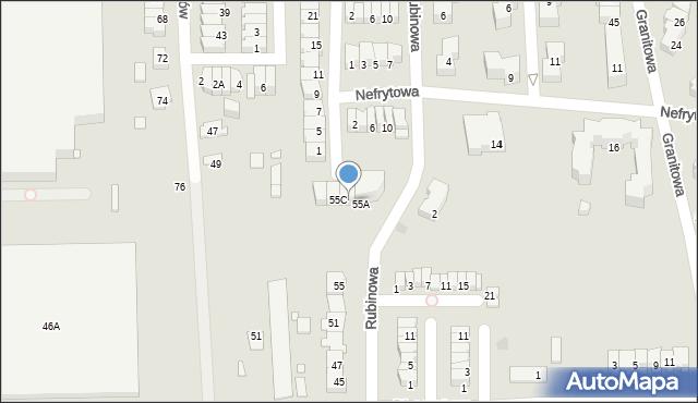 Piaseczno, Rubinowa, 55B, mapa Piaseczno