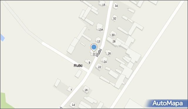 Rutki, Rutki, 11, mapa Rutki