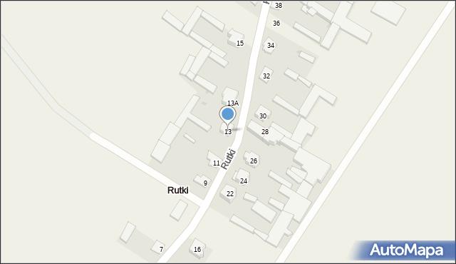 Rutki, Rutki, 13, mapa Rutki