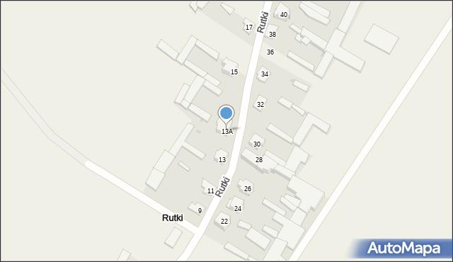 Rutki, Rutki, 13A, mapa Rutki