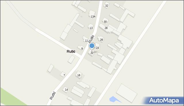 Rutki, Rutki, 22, mapa Rutki
