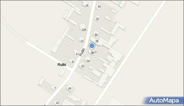 Rutki, Rutki, 26, mapa Rutki