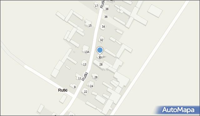 Rutki, Rutki, 30, mapa Rutki