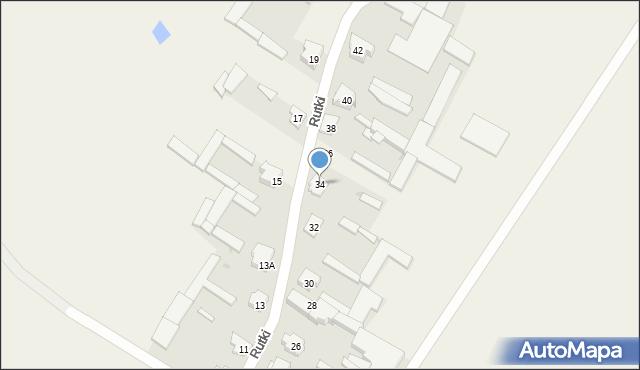 Rutki, Rutki, 34, mapa Rutki