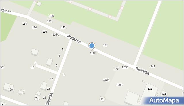 Toruń, Rudacka, 118, mapa Torunia