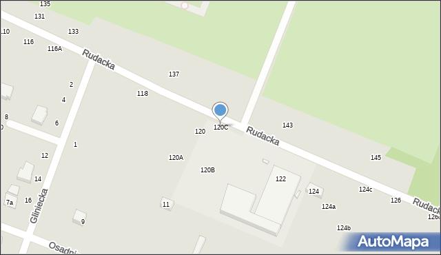 Toruń, Rudacka, 120C, mapa Torunia