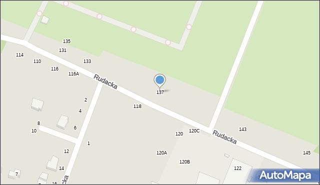 Toruń, Rudacka, 137, mapa Torunia